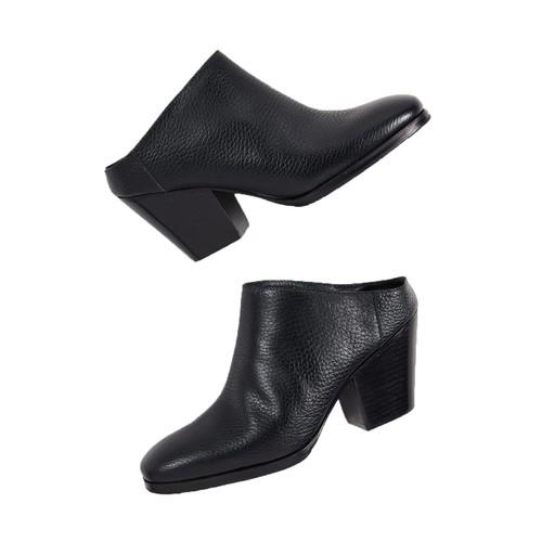 Rachel Comey Women's Leather Mars Mule Boots Shoe Black Size 7