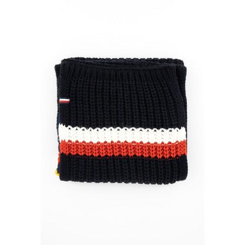 Tommy Hilfiger Men's Chunky-Knit Stripes Scarf Blue Size Regular
