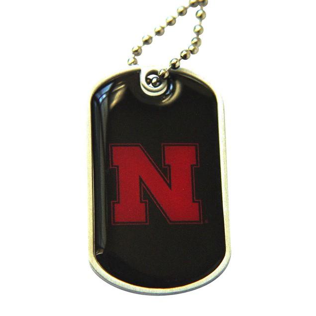 Nebraska Cornhuskers Dog Tag Necklace Charm Chain NCAA