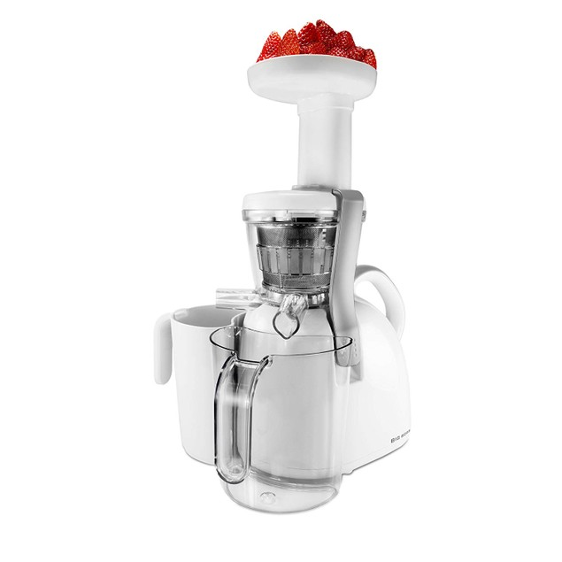 Big Boss Nutritionally Beneficial Slow Juicer, White