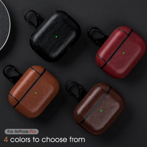 Elegant Leather Protective Cases for Airpod Pros