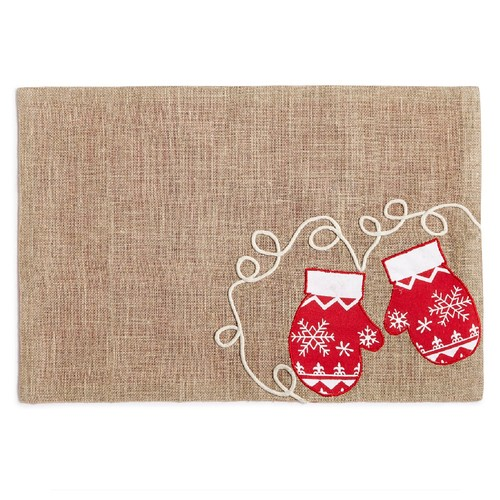 "Homewear Snowy Mittens 13"" x 19"" Placemat"