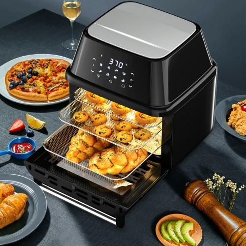 Costway 19 QT Multi-functional Air Fryer Oven 1800W Dehydrator Rotisserie w
