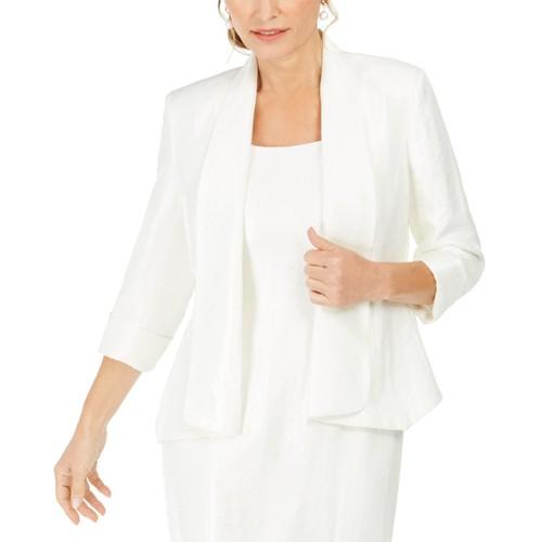 Kasper Women's Shawl-Collar Open-Front Blazer Natural Size 6