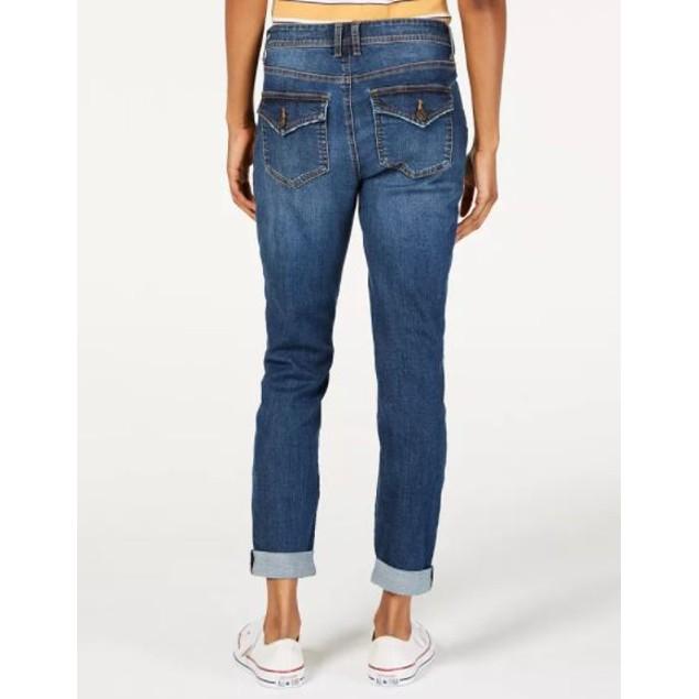 Vanilla Star Women's Ripped Cuffed Jeans Aqua Size 3