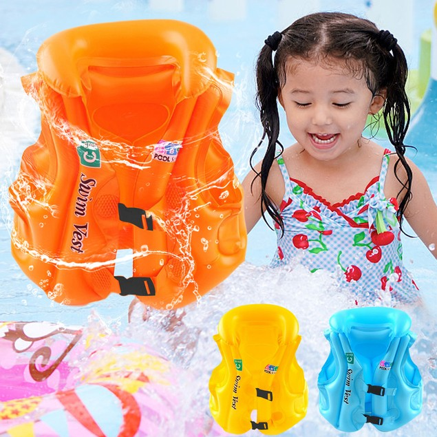 Children's Safety Training Inflatable Buoyancy Swimming Suit