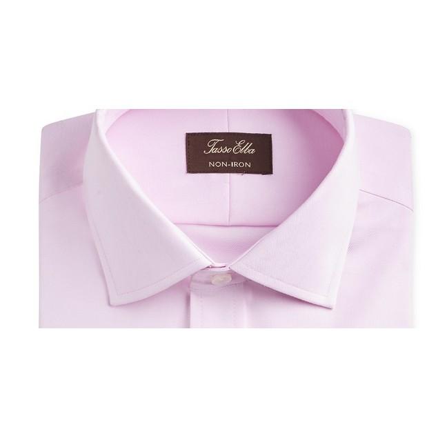 Tasso Elba Men's Slim Fit Supima Small French Cuff Shirt Pink Size 17X34X35