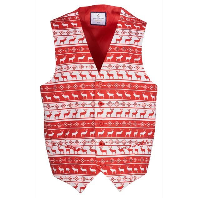Suslo Couture Men's Slim Fit Christmas Vests