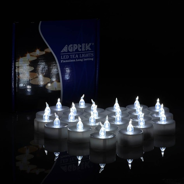 AGPtek® 100 Pack LED Battery-Operated Tealight Candle, Cool White