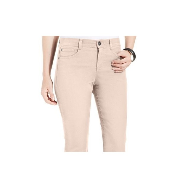 Style & Co Women's Petite Slim-Fit Tummy-Control Colored Wash Brown Size 4