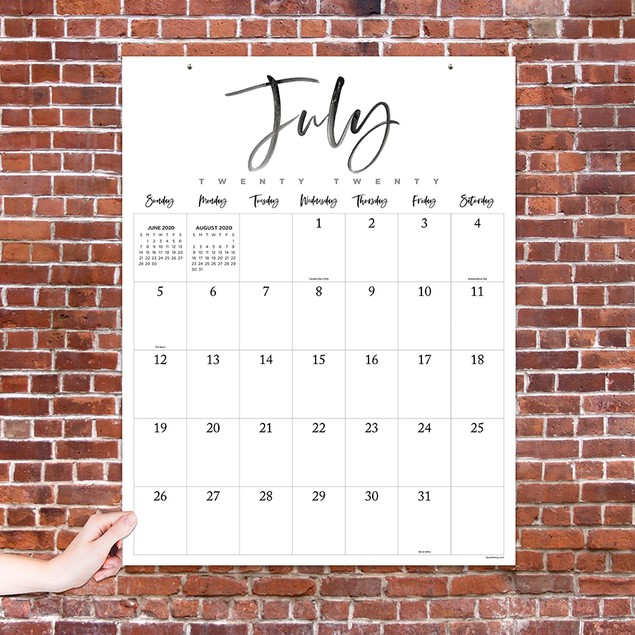 July 2020 - June 2021 Large Art Poster Monthly Wall Calendar