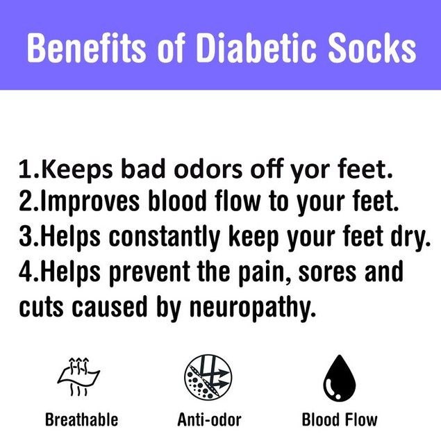 6 Pairs Physicians Approved Diabetic Crew Socks Unisex Black Grey White