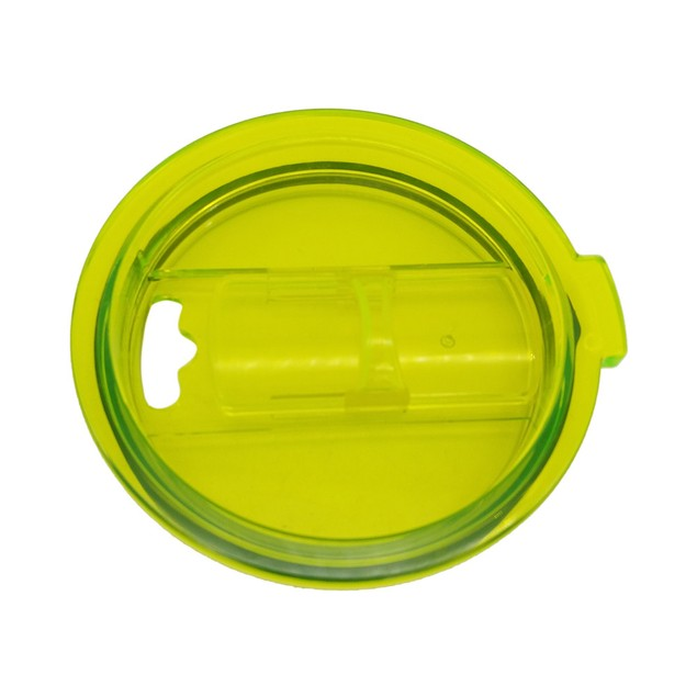 Spill And Splash Resistant Lid With Slider Closure For 30 Oz