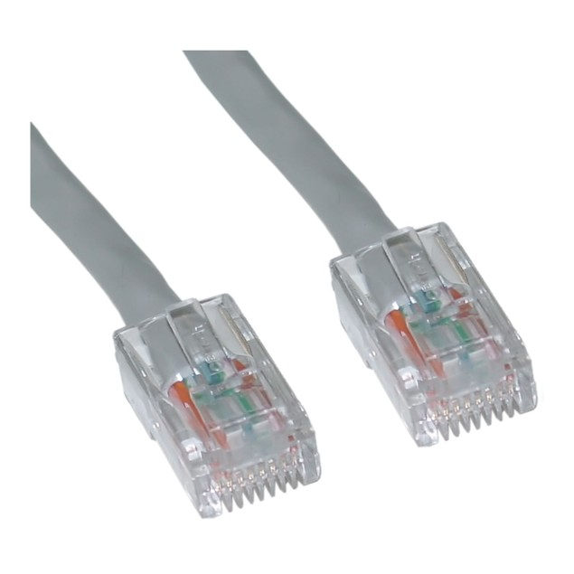Cat5e Gray Ethernet Patch Cable, Bootless, 20 foot