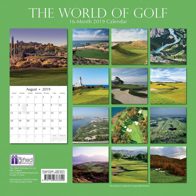 Golf World of Wall Calendar, Golf by Calendars