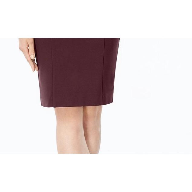 Alfani Women's Petite Ponte Pencil Skirt Dark Red Size 6