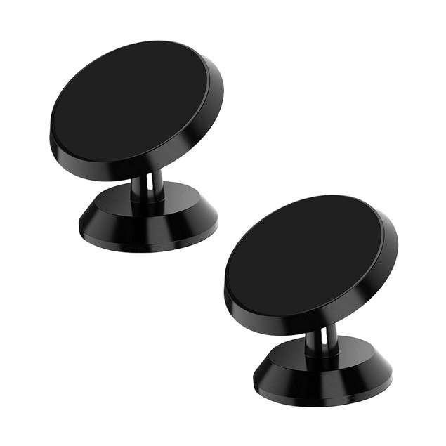 2-Pack Universal 360 Degree Magnetic Car Dash Mount for Cell Phone