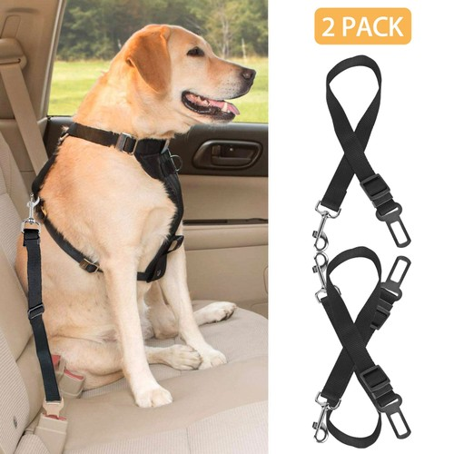 1.37FT-2.2FT Adjustable Dog Seat Belt Leash Pet Seatbelt Car Safety Harness