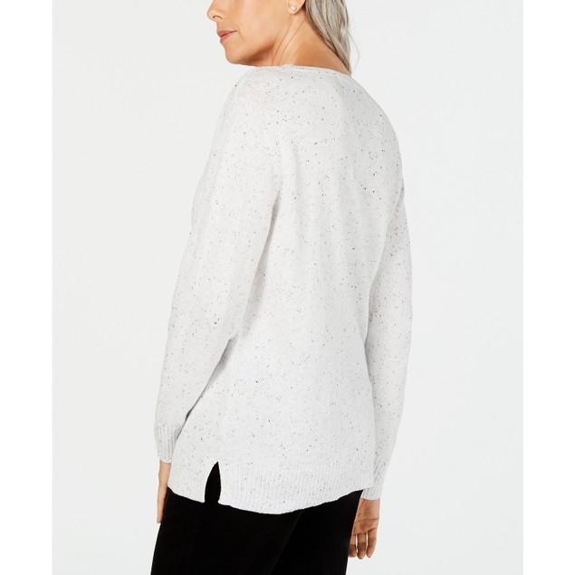 Karen Scott Women's V-Neck Long-Sleeve Sweater Green Size X-Small