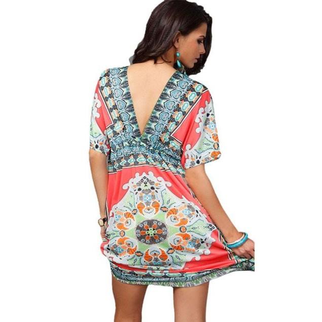 Hailey Boho V-Neck Bikini Cover-Up Dress
