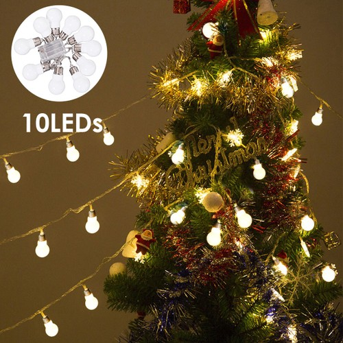 Costway Christmas LED String Ball Lights Xmas Wedding Party Decor Fairy Lam