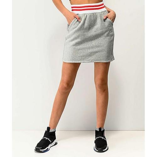 Champion Women's Yarn Dyed Stripe Waist Skirt Dark Gray Size Small