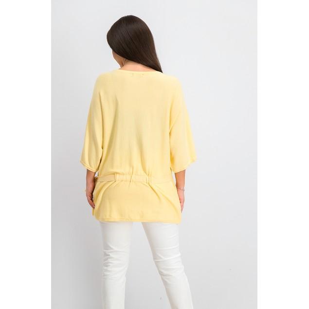 Alfani Women's Petite Tie-Waist Sweater Yellow Size 44