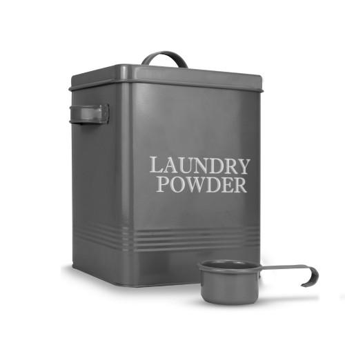 Laundry Powder Tin with Scoop | MandW Grey