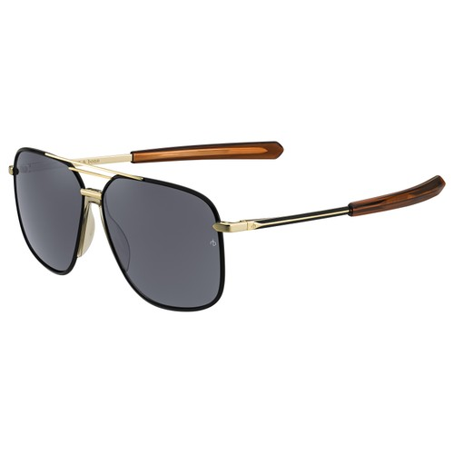 Rag & Bone Man Sunglasses RNB5009S I46 Matte Black Gold 62 13 140 Navigator