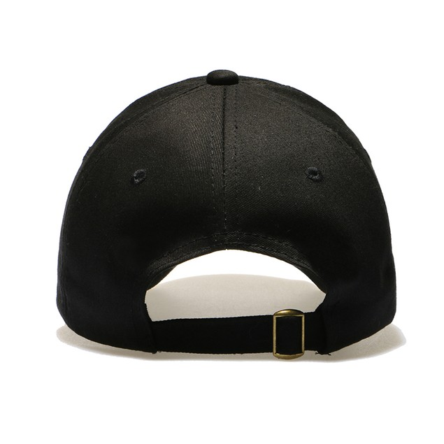 Malcolm X Black Unstructured Buckle Hat