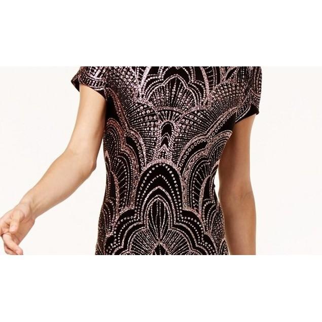 Jump Junior's Glitter-Printed T-Shirt Dress Black Size Large