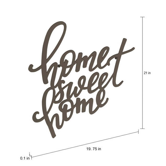 """Home Sweet Home"" Rustic Metal Cutout 3D Wall Art"