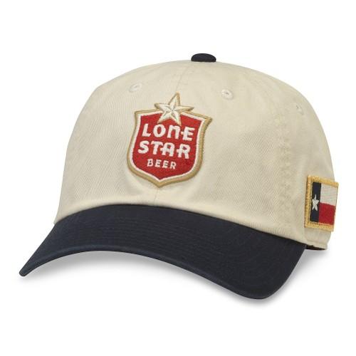 Lone Star Black And White Adjustable Strapback Hat