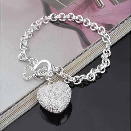 """Key To My Heart"" Toggle Charm Bracelet"