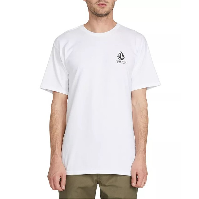 Volcom Men's Choose Your Player Graphic T-Shirt White Size Small
