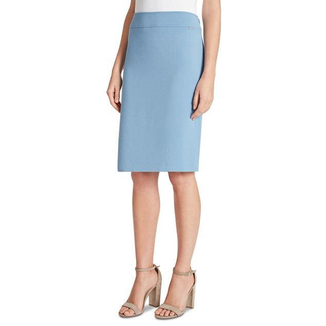Tahari ASL Women's Pencil Skirt Med Blue Size 4