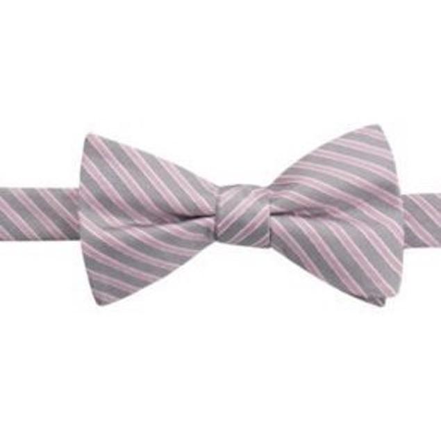 Ryan Seacrest Distinction Men's Juniper Stripe Bow Tie Pink Size Regular
