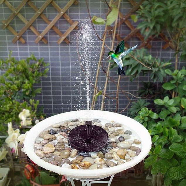 Solar Outdoor Pool Waterscape Floating Water Miniature Fountain