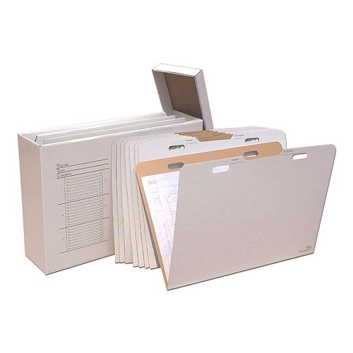 """AOS Flat Storage File Folders - Stores Items Up to 24""""x36"""" - Pack of 8"""