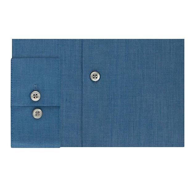 Kenneth Cole Unlisted Men's Slim-Fit Solid Dress Shirt Blue Size 15-32-33