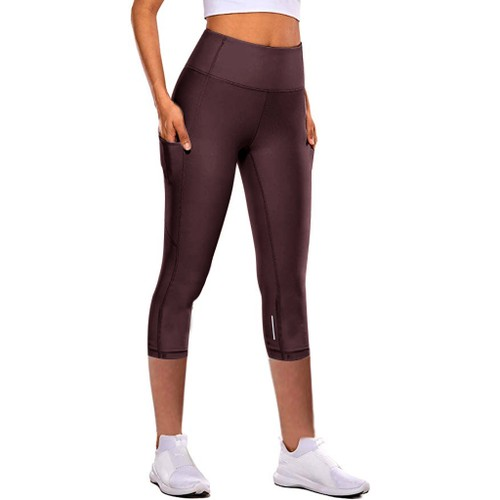High-Waist Hip-Lifting Cropped Yoga Tights For Women