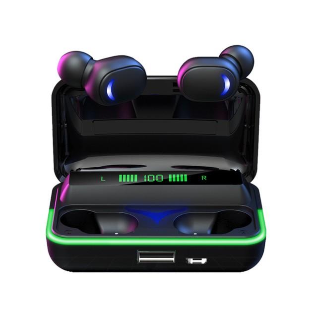 Wireless Bluetooth Headset Gaming Game Low Latency Binaural Mini In-ear Ambient Light Digital Display
