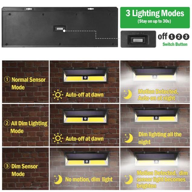 Solar Lights 180 LEDs Solar Wall Light Outdoor Motion Sensor Lamp