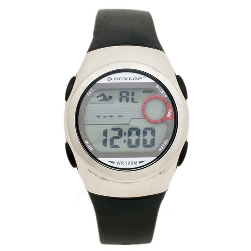 Dunlop Trim DUN206L01 Plastic Case Silver Rubber Mineral Men´s Quartz Watch