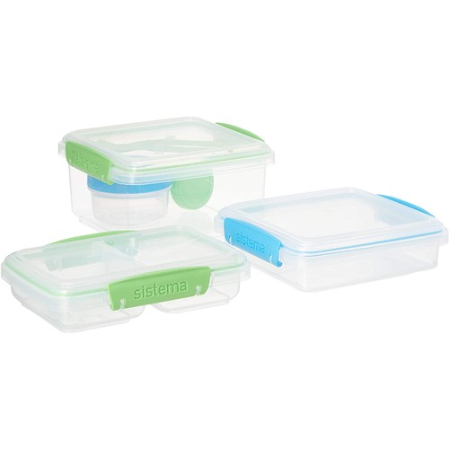 Sistema To Go 12-Piece Lunch Food Storage Transparent Container Set,