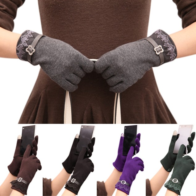 Fashion Women Touch Screen Warm Gloves