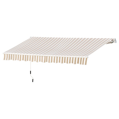 12' x 10' Outdoor Manual Retractable Awning Window Sunshade Shelter