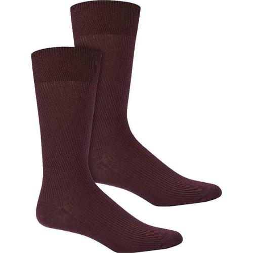 Alfani Men's Ribbed Socks Red Size Regular