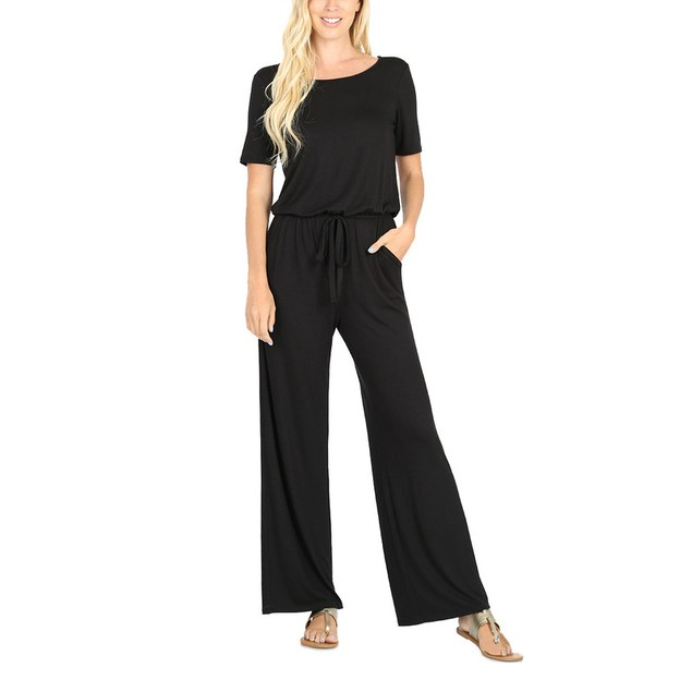 Women's Sleeveless Jumpsuit with Pockets - 7 Colors
