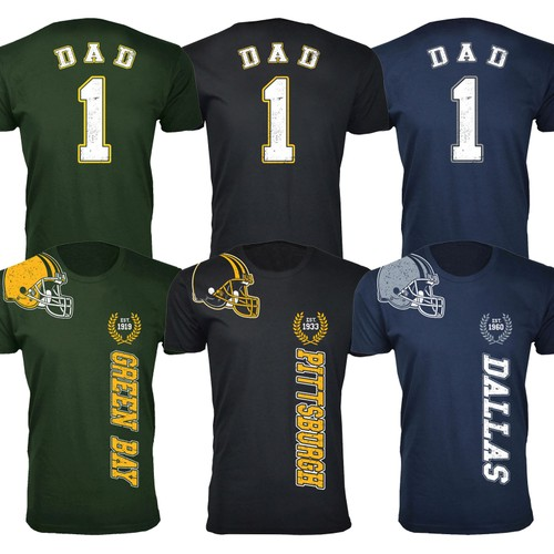 Men's Dad #1 Football Home Team T-Shirts